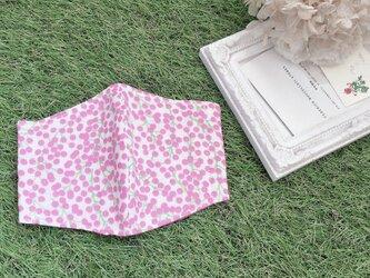 立体マスク ミモザ  ピンク キッズ オトナの画像