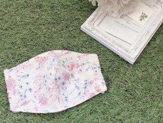 立体マスク 小花ピンク キッズ オトナの画像