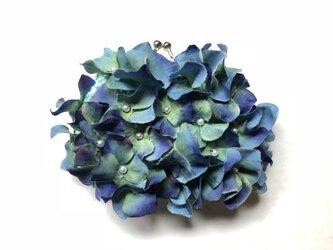 紫陽花のがま口の画像
