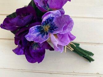 布花 Purple pansy corsage Bの画像