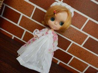 ★sale リカタイプ(ブライス)用 ローンハンカチーフドレスとアンダードレスの画像