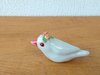 花小鳥/小(陶)白文鳥・薔薇の画像