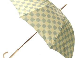 【雨傘】ノルディックジャカード ドットコラージュ グリーンの画像