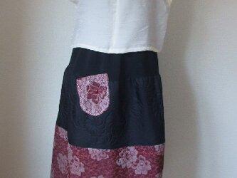 お召しと帯揚げでギャザースカート の画像