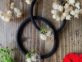 かすみ草のクリア・ヘアゴム Vol.2の画像