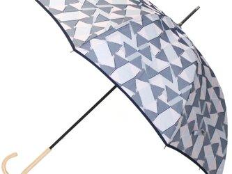 【雨傘】 fusion -RIBBON- グレーの画像