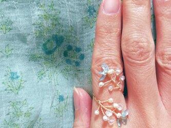 光の芽吹きの指飾り☆ メヘンディリング アパタイトツイスト サイズフリー (9~14)国内から発送☆の画像