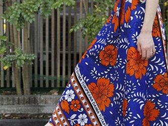 【 カンガの巻きスカート 】ロング・マキシ丈の画像