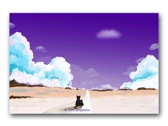 「いつも一緒^^」 ほっこり癒しのイラストポストカード2枚組 No.1029の画像