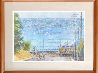 水彩画原画 光る海・七里ヶ浜の画像