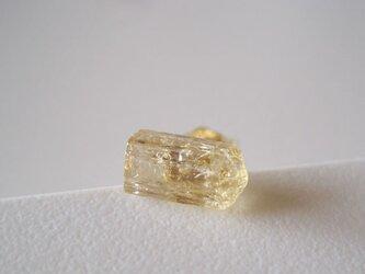 インペリアルトパーズの原石ピアス/Minas Gerais,Brazil 片耳 14kgfの画像