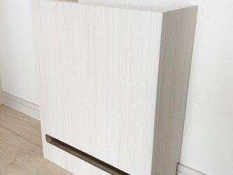 ケーブルボックス ルーター モデム 収納 ホワイトウッドPの画像