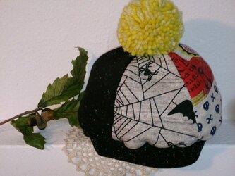 ぼんぼりが可愛い*ニットベレー帽・Lサイズの画像