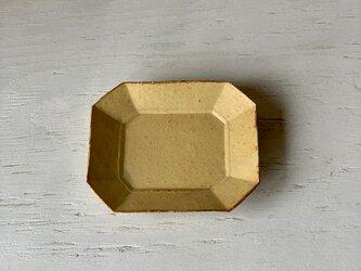 梔子(くちなし)色釉 八角プレート(小)の画像