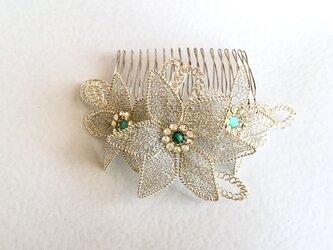 ブライダル・花嫁のシルバー髪飾り(ティアラ)の画像