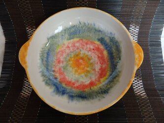 磁器 手付きカレー皿 の画像