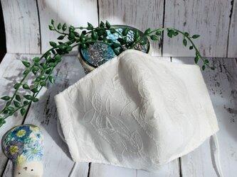 立体マスク●白い刺繍レース《送料無料》の画像