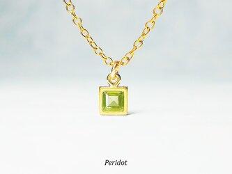 美しいリーフグリーン。ペリドットのネックレス [送料無料]の画像