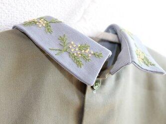 前後リバーシブルタイプのつけ襟~ミモザ~の画像