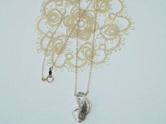 *花衣*NY産ハーキマーダイアモンドクォーツのネックレスの画像