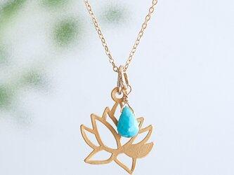 Lotus drop necklace / 5colorsの画像