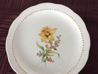ラッパ水仙の絵皿の画像