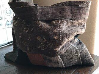 奄美大島泥染手提げバッグ【送料無料】の画像