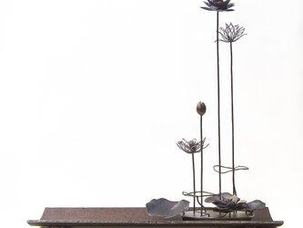 【 鉄の植物 カセキの時間シリーズ 】 OKP-164  朝焼けに-蓮-の画像