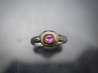 スターサファイア22KYG-silver925 の指環(ピンキーサイズ)の画像