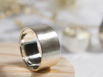 つや消し シルバーフラットリング 10.0mm幅 マット シルバー950|SILVER RING 指輪 シンプル|229の画像