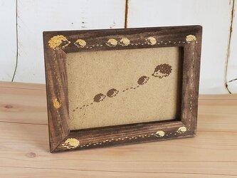 ★ ハリネズミのハリー 木製 フォトフレーム  アンティークブラウン 送料無料の画像