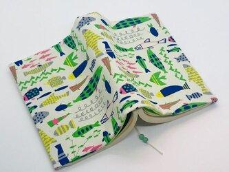 魚のブックカバー 両ポケットタイプ 文庫本用の画像