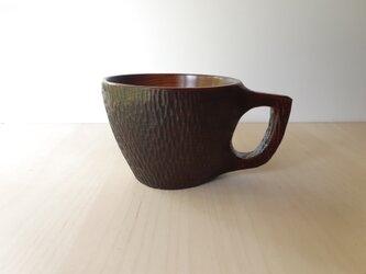 拭き漆のマグカップの画像