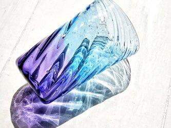 ブルーパープルのグラス*ご注文前にメッセージお願い致しますの画像