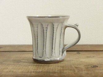 しのぎ手のマグカップ (透明)の画像