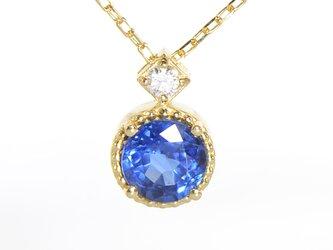 K18 カイヤナイト×ダイヤモンド ペンダント K18イエローゴールド クルール YK-BM0811CIの画像