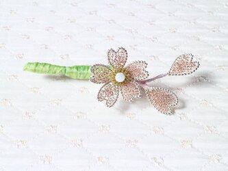 桜のブローチBの画像