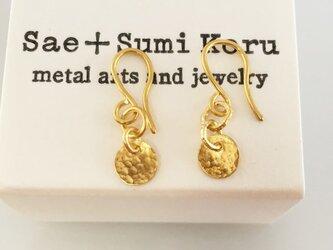 K24 Pure Gold Classic Earrings◇純金のクラシックピアス◇揺れるピアス (両耳分)の画像