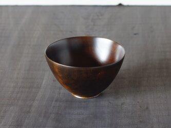 鉄染漆椀(中) サクラ 13cm x 7.5cmの画像