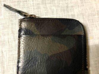 T様オーダー分・イタリアンレザー エル・ヴァケーロ・コンパクトなL字型ファスナー財布の画像