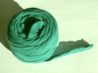 ニットテープ紐5m(10m作れます )エメラルドグリーン寄りの緑色 マスクの代用ゴム紐にもの画像
