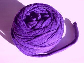 ニットテープ紐5m(10m作れます)紫色 マスクの代用ゴム紐にもの画像