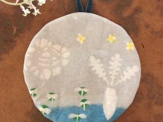 ポットマット  丸型 春の菜園の画像
