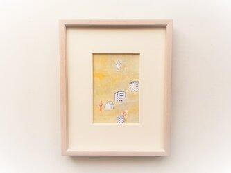 「光の午後」イラスト原画 ※木製額縁入りの画像