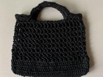 麻ひもバッグ(ブラック)の画像