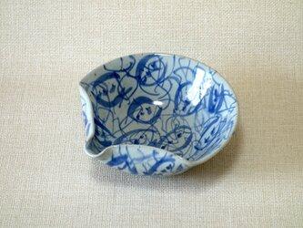 扇面片口(つる花紋)の画像
