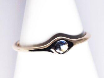 希少な小粒ゴールドシーンサファイアK10リング【Pio by Parakee】Gold sheen sapphireの画像