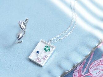 花畑set) チューリップ リング + スイセン ネックレスの画像