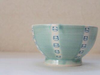 しましまパンダ茶碗ー水色の画像