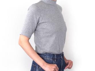 形にこだわった 大人のハイネック4分袖Tシャツ【サイズ・色展開有り】の画像